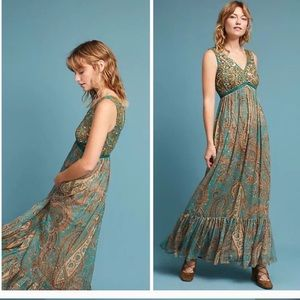 Anthropologie Rama Gill Maxi Dress S